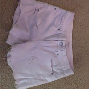 Joes Jean shorts white